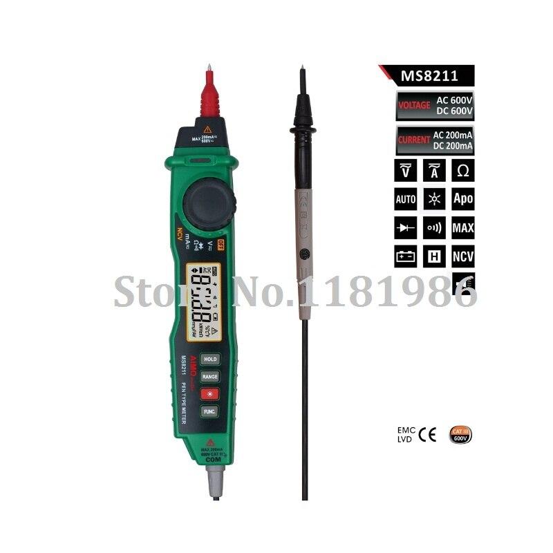 Aimometer MS8211 Pen-type Digital Multimeter Multimetro w/NCV Detector Non-contact DC/AC Voltage Current Meter Data Hold  цены