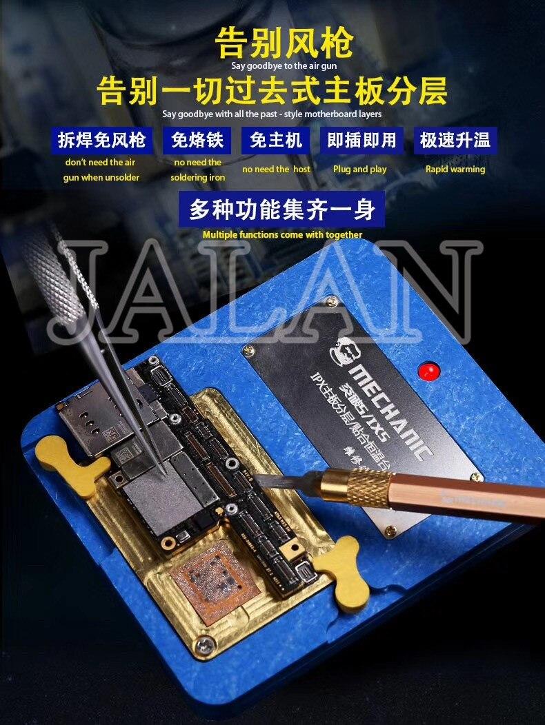 5/IX5 pour iPhone X XS XS-MAX carte mère superposition fix thermostat maintenance supérieure et inférieure plate-forme laminée outil de réparation