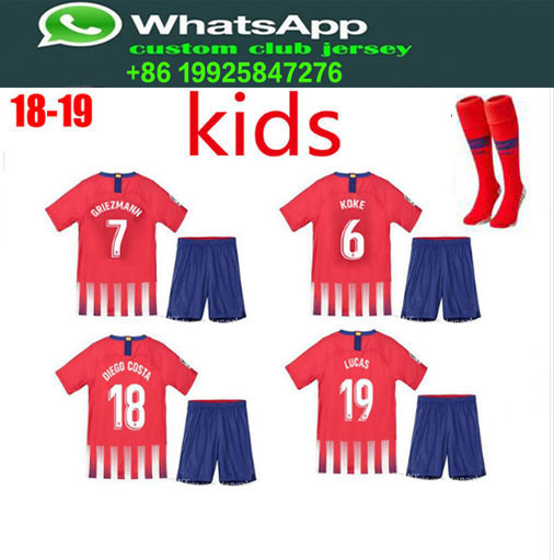 0ee3661ce 2018 19 Optimum quality Atletico Madrides kids soccer Jerseys camisetas  shirt survetement Football shirt. ...
