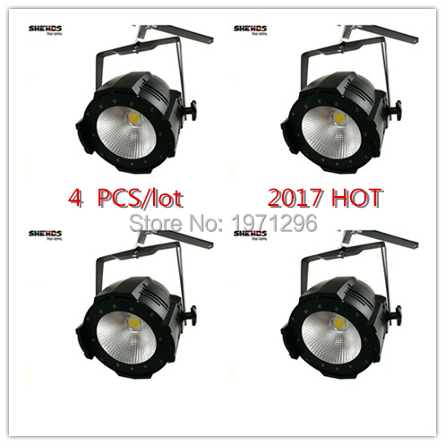 4 PCS / lot  2017 NEW  LED Par COB 100W  High Power Aluminium Case Stage Lighting with 100W COB ,cool white and warm white