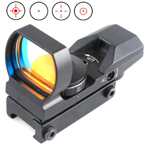 Outdoor Hunting Tactical Red Green Dot Sight Multi- Reticle 4 Reticle Reflex Rifle Scope Hunting Airsoft Optical Rail very100 new tactical reflex 3 10x 40 red green dot reticle sight rifle scope