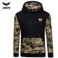 Hoodies Men 2017 Brand Male Long Sleeve Hoodie Camouflage Splicing Sweatshirt Mens Moletom Masculino Hoodies Slim Tracksuit 2XL