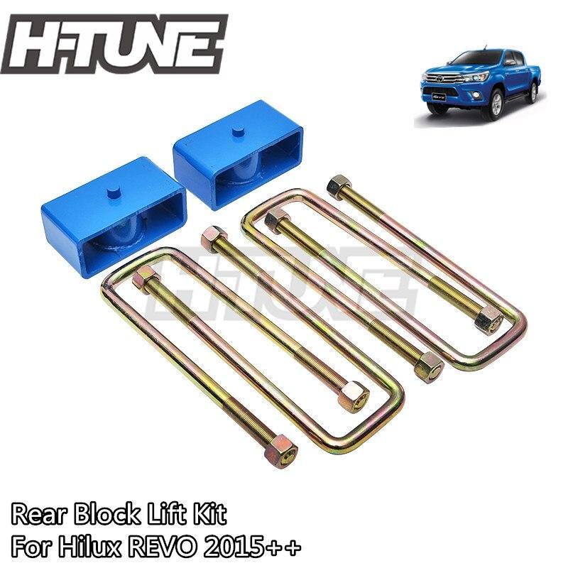 H TUNE 4x4 Suspension 2 Rear U Bolt Block Adapter Lifting Kit for Hilux REVO 2015