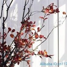 1 шт. Красивые Искусственные красные листья пластиковая высушенная ветка растение домашнее свадебное украшение F382