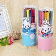 Лидер продаж 18 Цвета/коробка Творческий Multicolore акварель ручки маркер дети Красящие ручки студент рисования товары для рукоделия