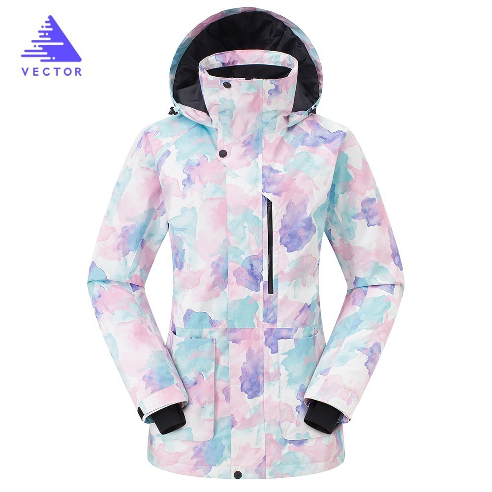 Ski Jacket Extra Warm Women Long Hooded Winter Snowboard Wear Thick Coat Clothing Camping Snow Skiing