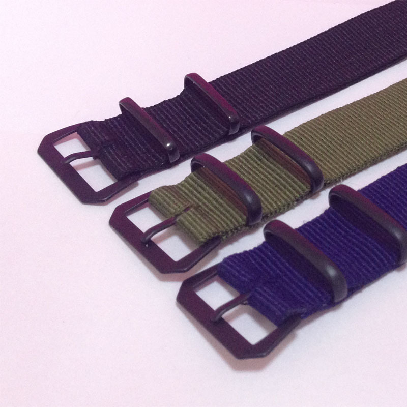 20 mm Strong Solid Navy Green bracelet Army Military nato fabric Nylon Watch watchbands Woven Strap Bands Black Buckle belt 20mm