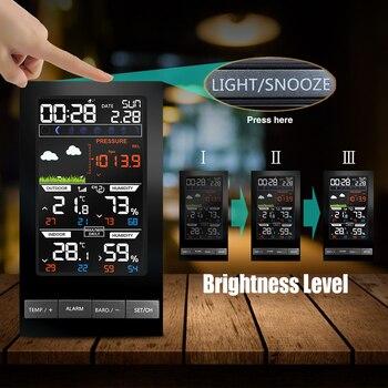 Weather Station Wireless Outdoor Hygrometer Digital Thermometer mmHg Barometer Digital Hygrometer Alarm Clock Weather Forecast 2