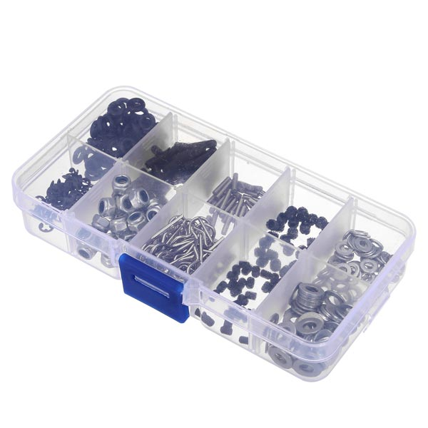 310PCS In One Screw Box Set Nut Screw Gasket Bolt For HSP 1/10 Rc Remote Control Car Parts New310PCS In One Screw Box Set Nut Screw Gasket Bolt For HSP 1/10 Rc Remote Control Car Parts New