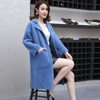 Women blend coat female ladies trending styles warm Woman coats winter 2018 long coats woman winter 2018 trenchcoat DD1742 S