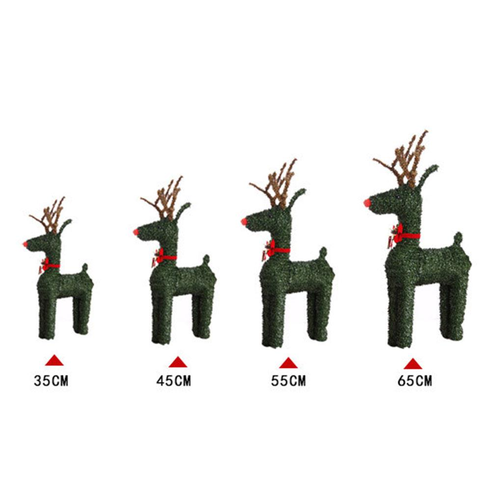 Handmade Elk Festival Supplies Grass Animals with Lights Ornament Crafts Beautiful Weave Reindeer PVC Holiday