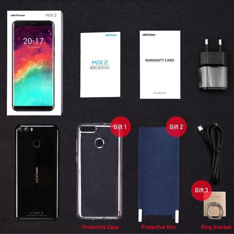 """Ulefone MIX 2  5.7 """"HD + 18:9 экран MTK6737 4 ядра Android 7.0 сканер отпечатков пальцев 2 ГБ + 16 ГБ мобильный телефон 13MP двойная Камера смартфон"""