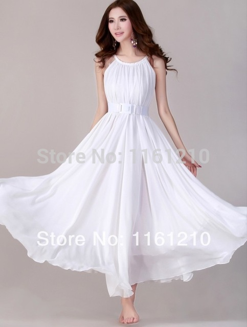 Aliexpress Buy White Summer Holiday Beach Dress Beach Wedding Party Guest Sundress Plus
