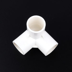 Image 2 - 10pcs Inner Diameter 25mm PVC 3 ways Connector Pipe Joints Home Garden Elbow Tee PVC Fitting Garden Irrigation System Watering