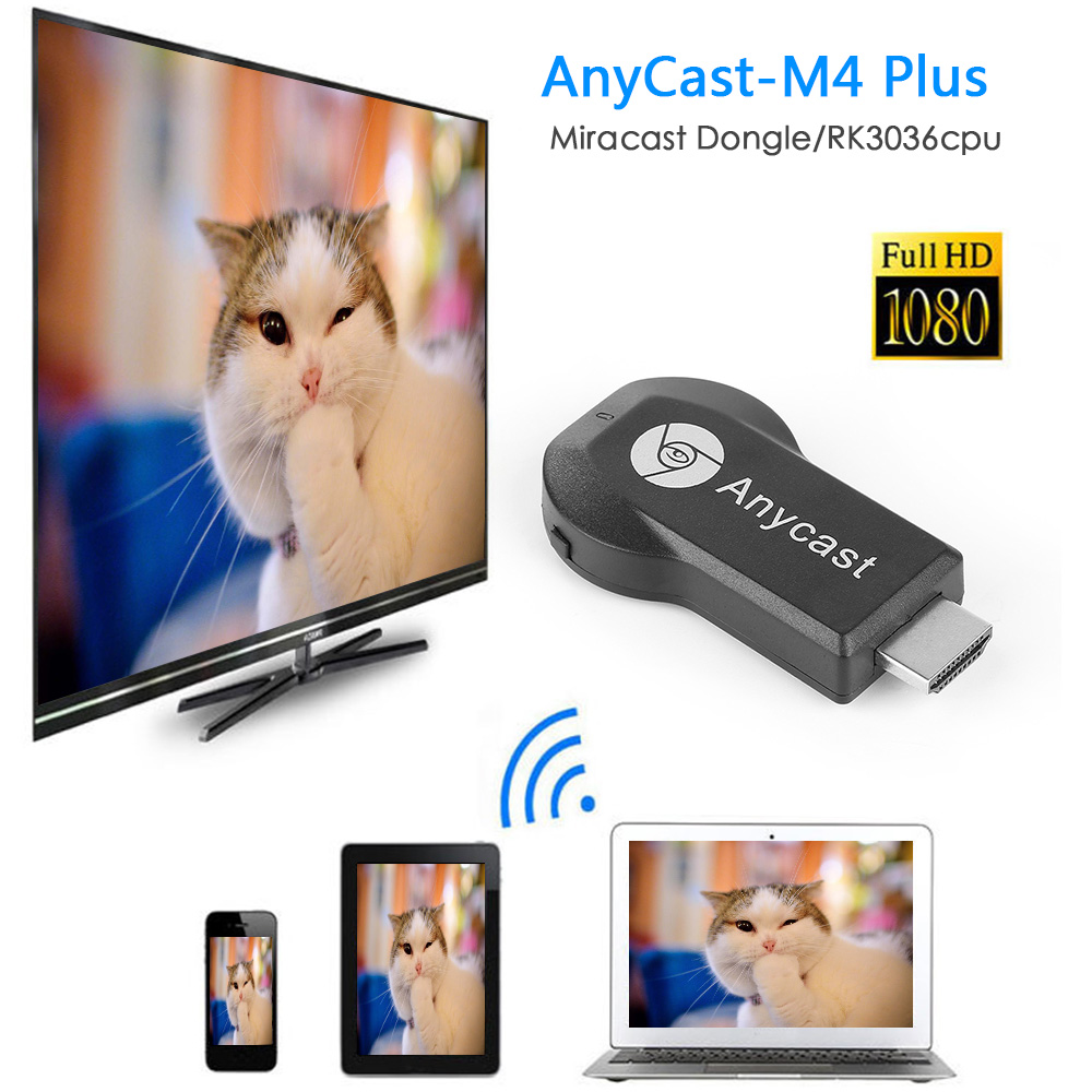 Dongle HDMI Receiver Tv-Stick Wifi-Display Fire-Chromecast M9 Plus 1080P Amazon Wireless
