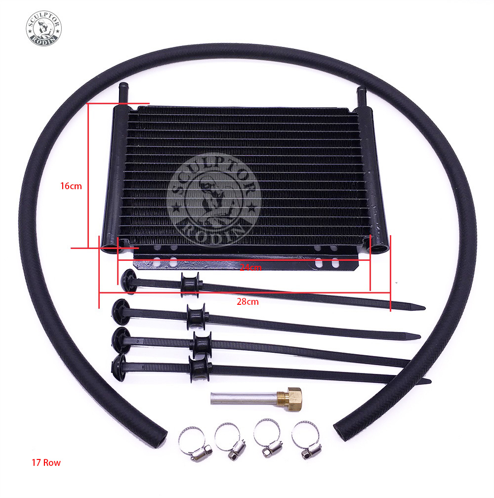 Oil Cooler Aluminum Transmission Oil Cooler 15Row 17Row Automatic Stacked Plate Oil Cooler Radiator