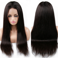 Human Hair Wigs Straight Lace Frontal Brazilian Black Remy Hair