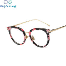 4c2b34842b0a Glasses Frame Female Retro Round Face Personality Myopia Eyes Face Thin  Mirror Triangle Arrow Metal Decoration Frames XY-82