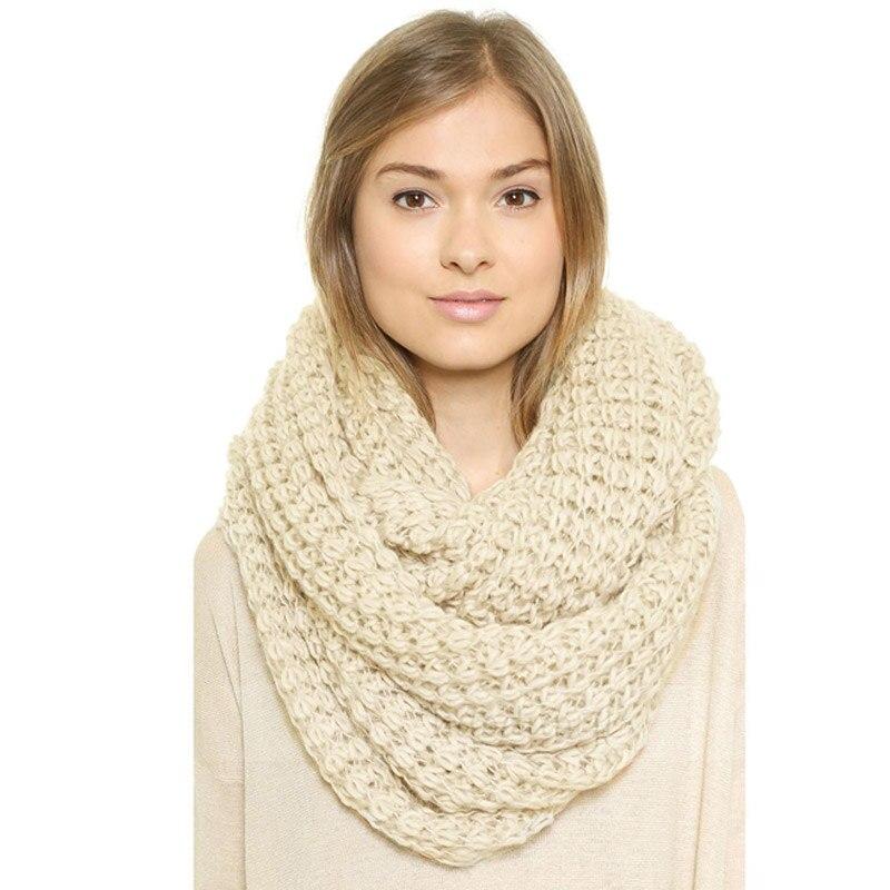 Leo anvi crochet bufanda infinity grueso invierno bufandas mujeres ...