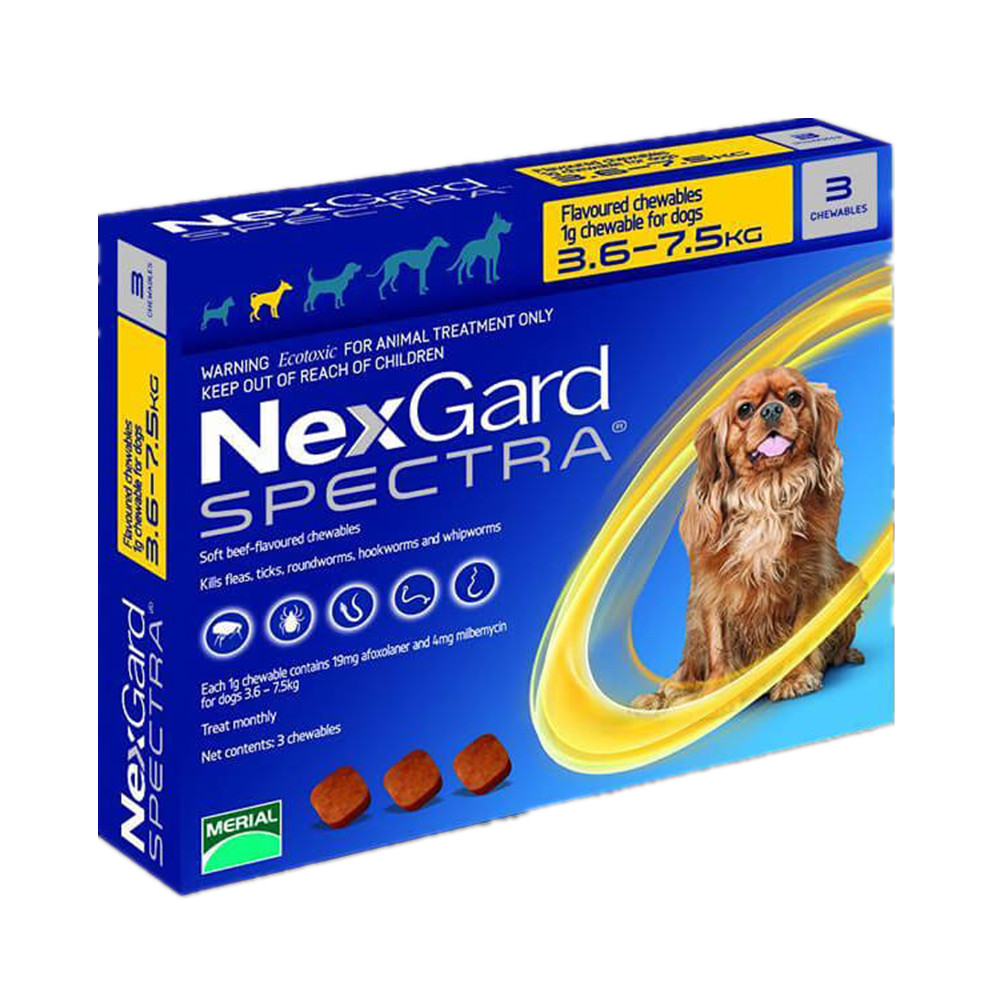 NexGard Spectra Orale Trentment Voor Hond Vlooien & teken & Intestinale & Wormen & Heartworms-in Hond Accessoires van Huis & Tuin op  Groep 3