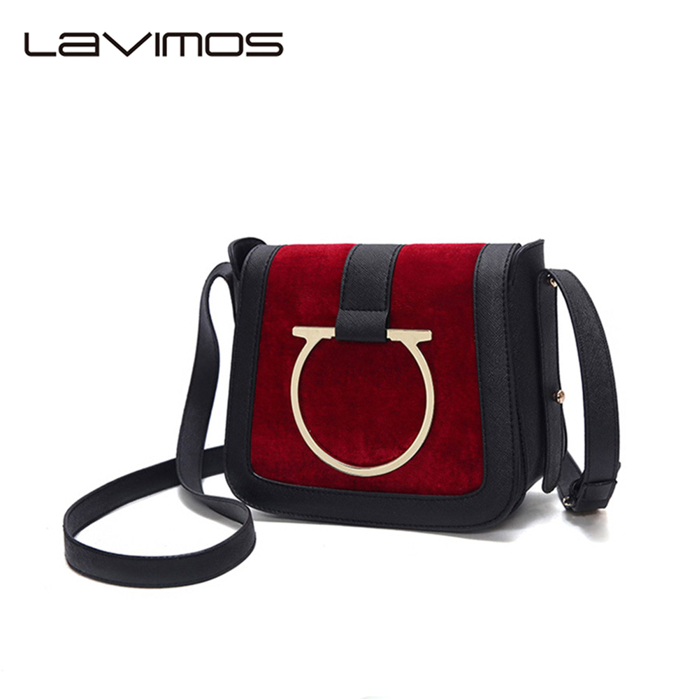 ФОТО 2017 New PU Leather Handbag Women Saddle Bags Shoulder Crossbody Messenger Bags Ladies Casual Cross Body  Small Ring Decoration