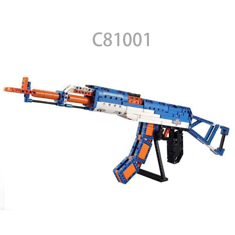 Mylb nouveau terrain de bataille de playerinconnu même jeu jouets pistolet jouet grande taille AK47 M1 P90 M4 MP5 briques comme cadeaux d'anniversaire pour les enfants