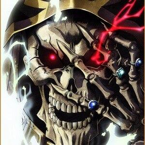 Image 5 - Coshome Costume de Cosplay Anime Overlord Ainz, accessoires de Costume pour Cosplay, anneaux et masque de crâne