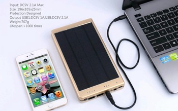High Quality Solar Power Bank External Battery Power bank Charger 20000mAh for Smart Mobile Phones usb battery bank charger