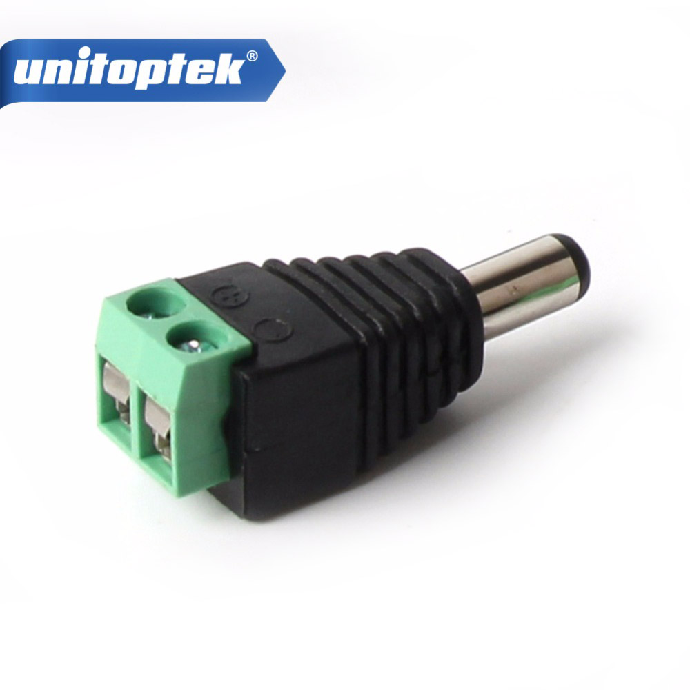 10 / 20 / 50 / 100Pcs/lot 2.1mm DC Connector CCTV Male Plug Adapter Cable UTP Camera Video Balun Connector