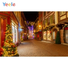 Yeele Christmas Trees Lights Street Nice Room Decor Photography Backdrops Personalized Photographic Backgrounds For Photo Studio