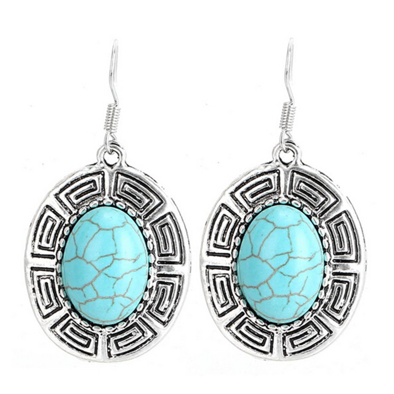 QCOOLJLY Charming Gifts One Pair Flower Plant Thai Silver Wonderful Design Womens Fashion Drop Earrings