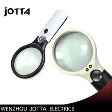 цена на Handheld 3X 45X Illuminated Magnifier Microscope Magnifying Glass Aid Reading for Seniors loupe Jewelry Repair Tool With 3 LED