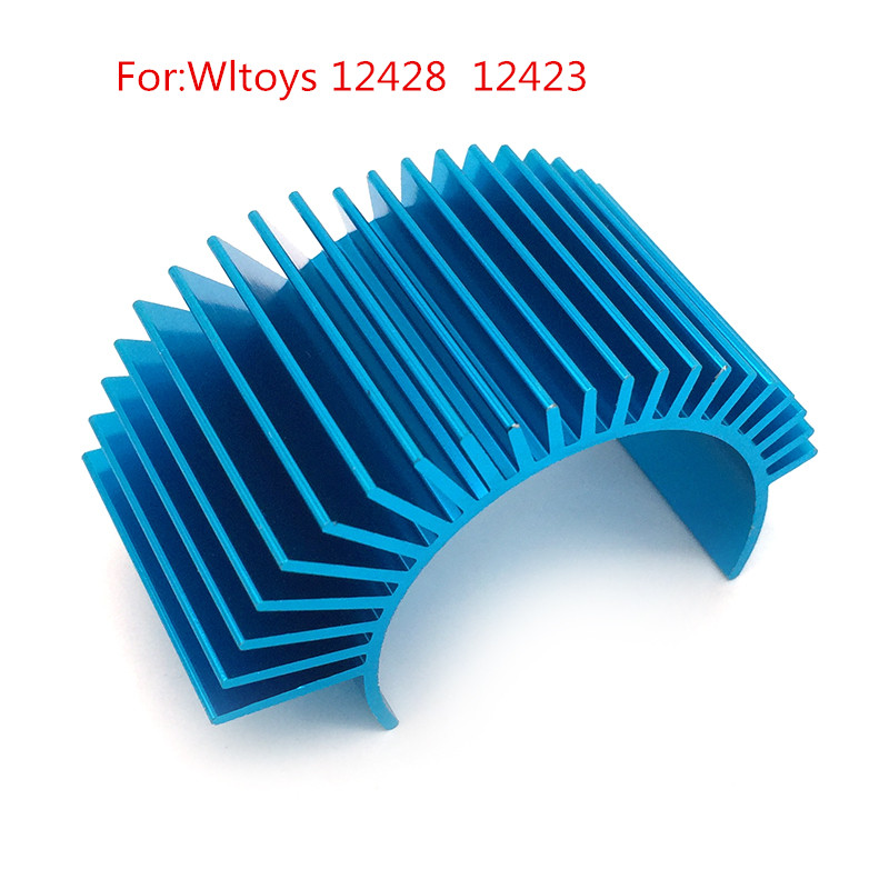 Spare Parts Upgrade <font><b>Metal</b></font> Motor Heat Sink For RC Car <font><b>Wltoys</b></font> <font><b>12428</b></font> 12423 RC Cars Accessory image