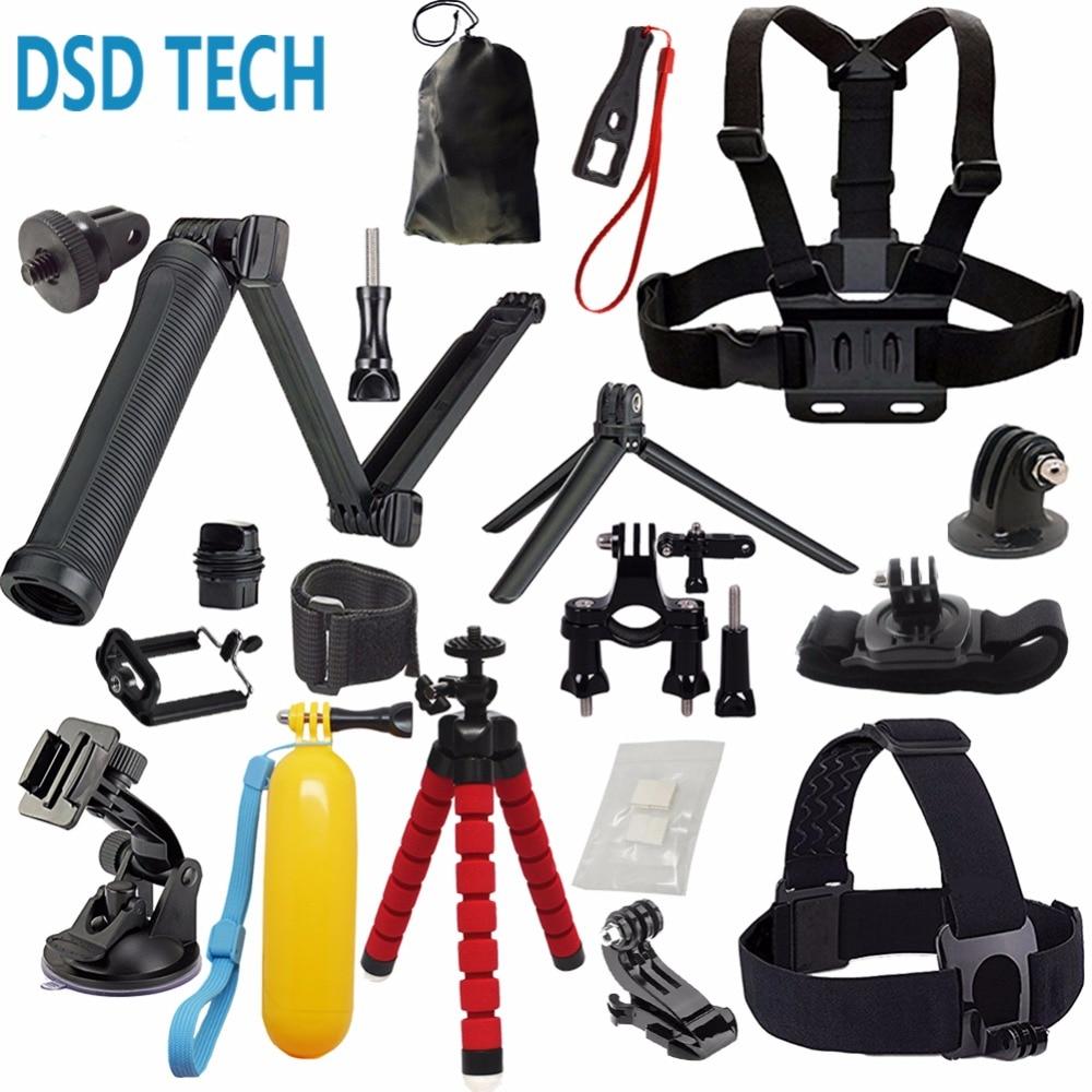 DSD TECH for GoPro 3 Way grip pivot arm chest mount harness kit for gopro hero 5 4 3 6session black sjcam sj4000 xiaomiyi 4k 08B
