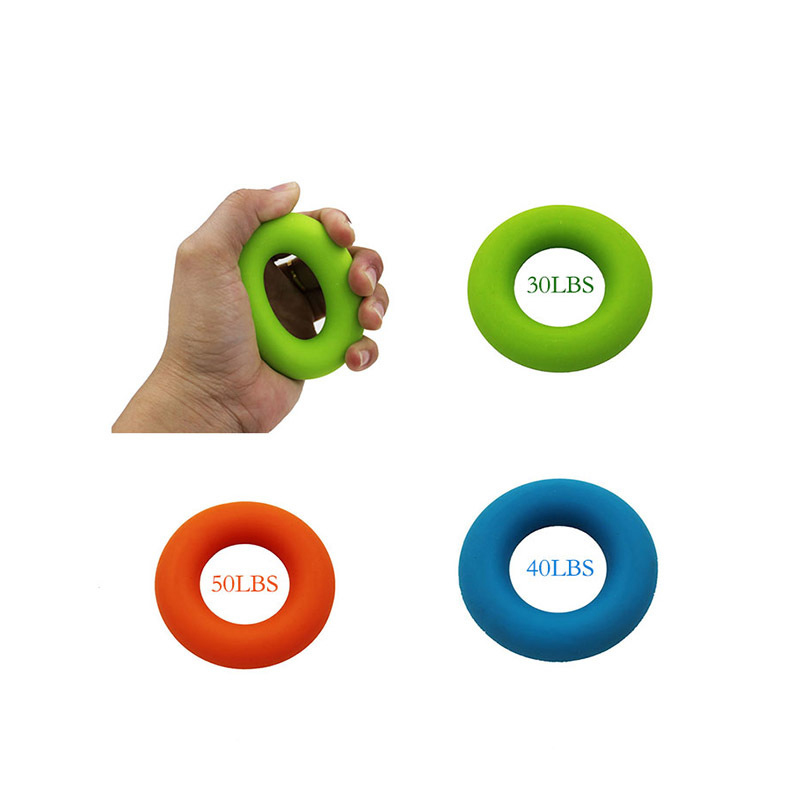 Rubber Ring Strength Finger Hand Grip Muscle Power Training Squeeze Toy Exerciser Silicone Palm Circle Fitness Stress Relief Toy