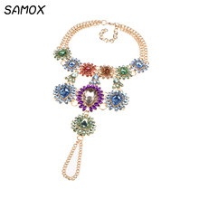 Alloy Studded Rhinestone Anklet Feet Jewelry High-end Quality Luxurious Texture Gifts For Women 006