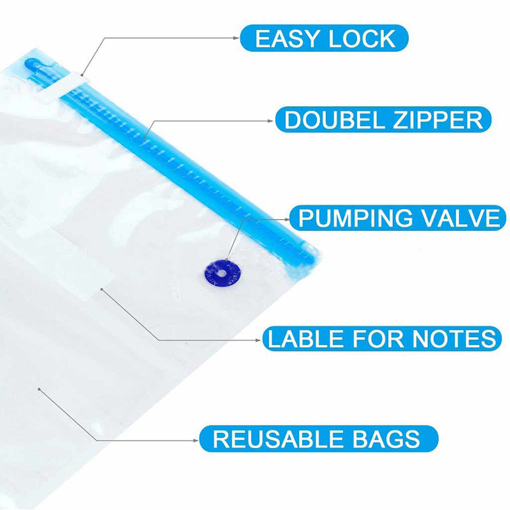 3 Sizes Sous Vide Bags Set BPA Free 30 Reusable Vacuum Food Storage Bags Home Storager Vacuum Food Storage Bags