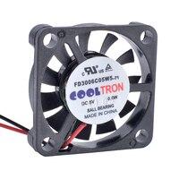 FD3006C05W5 révolution de refroidissement 5V 3006 W | Ventilateur de refroidissement Ultra-fin  30mm 30x30x6mm  micro-fin  0.6
