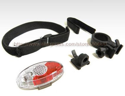Waterproof 4 LED Tail Light with Clip Safety Bike Warning Light Arm Light Helmet Light & DHL/UPS/FEDEX/EMS Free Shipping