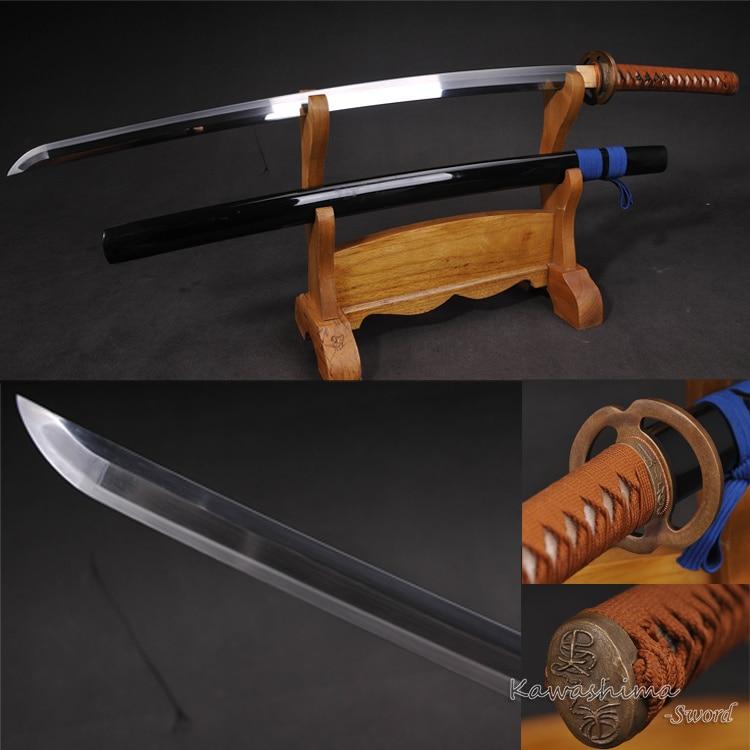 Hot výprodej ručně japonský Katana 1060 vysoce uhlíkové oceli samurajský meč žáruvzdorná plná ostrost Tang pro řezání papíru