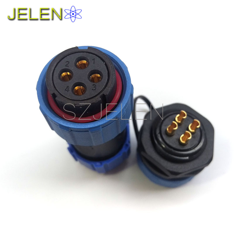 SP2110/S, Inversion waterproof Connector 4 pin,IP68,Power cable mount plug socket 4 pin, waterproof and dustproof connector