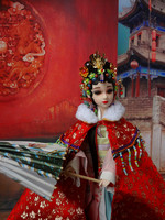 12 Collectible Chinese Dolls Traditional Girl BJD Doll With 3D Eyes Flexible 12 Joints Body Souvenir