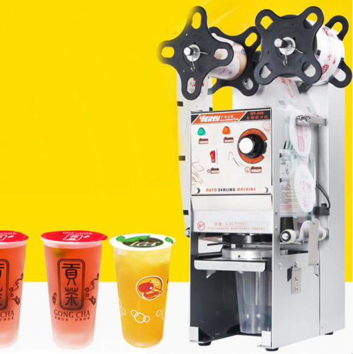 220V Automatic Cup Sealing Machine Cup Sealer for Bubble Tea Juice Drinks WY-680