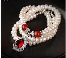 Women Gift Freshwater Natural Pearl Necklace For Real Jewelry