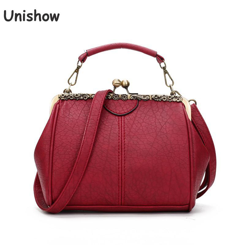 Unishow Clip Lock Women Shoulder Bags Vintage Pu Leather Ladies Handbag Female Tote Bag Brand Designer Small Women Messenger BagUnishow Clip Lock Women Shoulder Bags Vintage Pu Leather Ladies Handbag Female Tote Bag Brand Designer Small Women Messenger Bag
