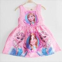 Pink Dress For Girls Sundress Elsa Princess Dresses For Party Girls Dress Costume For Kids Girl