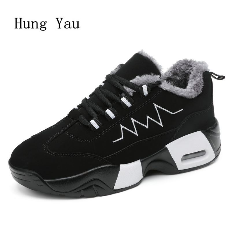 Women Snow Boots Ankle 2017 Winter Warm Female Casual Shoes Platform Woman Boots Lace Up Flat Fashion Plus Size 35-44 fashion genuine leather hollow lace style winter martin boots women warm snow shoes ankle woman bottine ladies platform femme