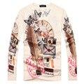 Моды Показать 2017 весной и осенью мода top Brand Мужская футболка мужская с длинным рукавом толстовка специально разработан