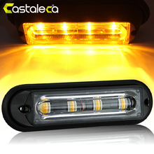 Castaleca Vehicle Flashing Light Car Truck Emergency 4LED Strobe Flash Fog Lamp Grille Marker Traffic Beacon DRL Signal Lights стоимость