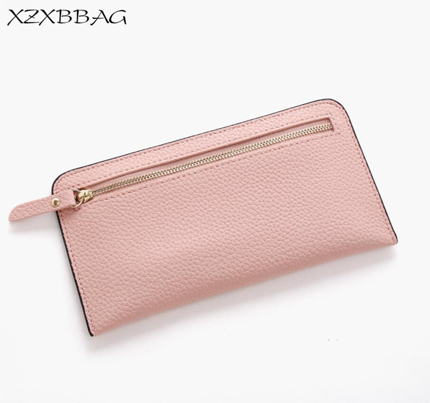 XZXBBAG Fashion Female Zipper Thin Long Wallet Lady Simplicity Card Holder Purse Girls Money Bag Students Handbag Money B ширма simplicity fashion